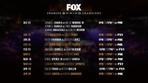 PBC Winter 2019 Fox Schedule